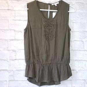 DR2 NWT Army Green Sleeveless Top Women's Small